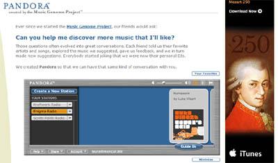 Pandora Screen Shot