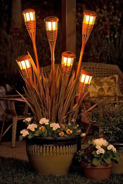 Solar Tiki Torch Planter from The Gadgets Page