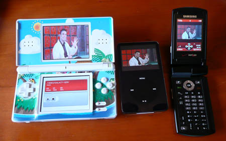 Nintendo DS, Video iPod and Samsung U-740 Video Showdown